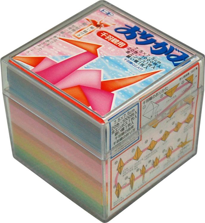 すべての折り紙 折り紙 両面 : 002004千羽鶴用おりがみ7.5cm(1000 ...